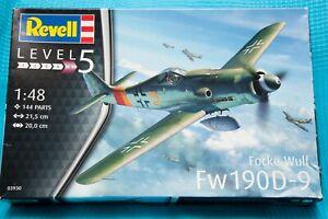Revell 03930 1/48 Focke Wulf FW190 D-9 kit Unstarted + Master Brass upgrade sets