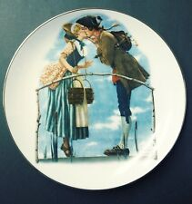 """Collectible Plate """"The Milkmaid"""" Norman Rockwell From The Collection Young Love"""