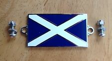 Enamel Badge Scotland Scottish saltire Car Motorcycle triumph spitfire wing boot