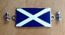 Enamel Badge Scotland Scottish saltire Car Motorcycle triumph spitfire wing boot