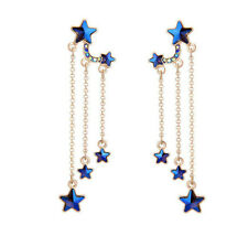 New Betsey Johnson Fashion rare Alloy Rhinestone Star drop earring Fashion Jewel