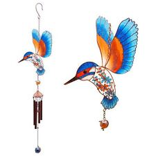 Kingfisher Wind Chime 56cm Long Suncatcher Mobile Garden Home Porch Window