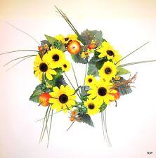 Künstlicher Sonnenblumen Türkranz Tischkranz Wandkranz Dekokranz Dekofrüchte