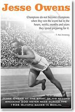 Jesse Owens - NEW Famous African American Athlete Quote POSTER