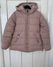 Zara Pink Water Repellent Puffer Jacket Coat With Hood Size S BMWT