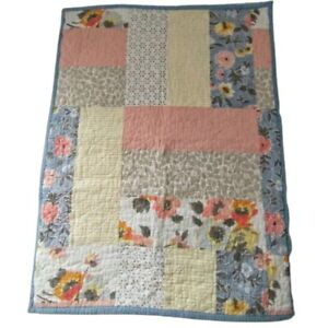 Martha Stewart Pillow Sham Cover Standard Country Flora Patchwork Shabby Decor