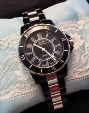 OHSEN Men's Water Resistant Black And Silver Quartz Watch New Battery Works