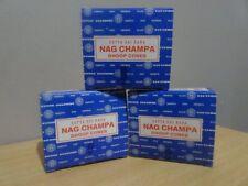 Nag Champa  - Satya Sai Baba - Dhoop Cones x 3 Pack  Free Post AU