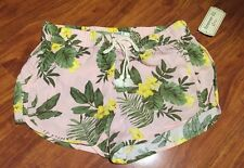 Forever 21 Girls Pink Tropical Rayon Shorts Size 9/10 NWT