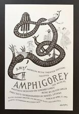 Edward Gorey *Poster Advertising Amphigorey, The Musical* ILLUS/SIGNED BY GOREY