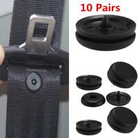 10Pair Clip Seat Belt Stopper Buckle Button Fastener Safety Universal Car Part