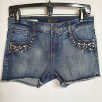 Kut From The Kloth Size 2 Jean Shorts With Large Rhinestones on Pockets