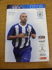 11/08/2007 Huddersfield Town v Yeovil Town  (Item In Good Condition)