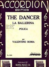 The Dancer La Ballerina Valentino Roma 1929 Vintage Accordion Sheet Music