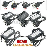 DC 24V 2A 3A 4A 5A 6A Adapter Power Supply Charger Transformer for LED Strip
