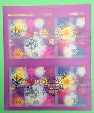 Nederland 2446 - 2455 Compleet vel Decemberzegels 2006 mooi gestempeld