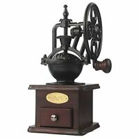 Manual Coffee Grinder Antique Cast Iron Hand Crank Coffee Mill With Grind