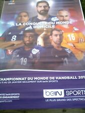 Affiche HAND BALL 120X170   CHAMPIONNAT DU MONDE   EQUIPE DE FRANCE