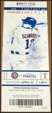 4/12/2018 Chicago Cubs Pittsburgh Pirates Ticket Kyle Schwarber Gregory Polanco