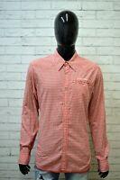 Camicia Quadri Uomo TOMMY HILFIGER Taglia XL L Maglia Camicetta Shirt Hemd Rosso