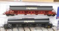 Roco 76135 H0 2 teiliges Set Schwenkdachwagen Tadgs Grawaco Epoche 5/6 neu, OVP