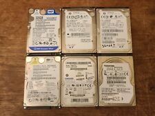 Lot of (6) 320gb sata 2.5 laptop hard drives (Mixed Brands)