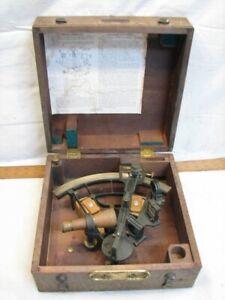 Hughes & Son Navy Ordinance Stadimeter Nautical Tool Sextant Naval London