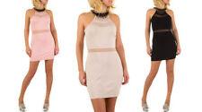 Den Sommer Damenkleider mit Rundhals-Ausschnitt aus Baumwolle