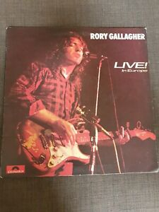 Rory Gallagher first album and Live in Europe vinyl LP record EX