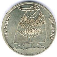 Medaille VEB Walzwerk Hettstedt Karikaturenausstellung VBK/DDR Berlin fast vz/st