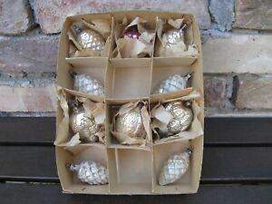 alter Weihnachtsschmuck Glas Zapfen Nüsse, Baumbehang Christbaumschmuck Lauscha