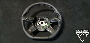 Steering Wheel AUDI A4 B8 8K A5 Q5 A6 A7 Flat Bottom New Leather