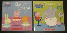 NEW!! Lot of 2 Scholastic Peppa Pig Softcover Books Ballet Lesson & Dentist Trip