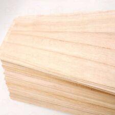 20PC Natural Paulownia Wood Quarter Sawn Sheet 500x100x1mm For Model Maker