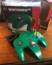 *AUTHENTIC* Original Nintendo 64 N64 Controllers VERY TIGHT OEM Joysticks Green