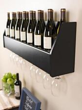 """Prepac Floating Wine Rack in Black BSOW-0200-1 Wine Rack 7.2"""" x 40.8"""" x 12.8"""""""