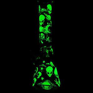 11'' Glass Bong Hookah Shisha Smoke Water Pipe Bowl Ice Catcher SET Beaker Glow