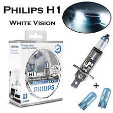 2x Philips H1 55W 12V 12258WHVSM White Vision Scheinwerfer Lampe ECE + 2x W5W