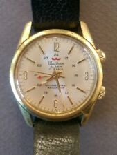 Vintage Waltham Gold-Plated 17 Jewels Alarm Hand-Winding Watch