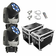 CHAUVET DJ Intimidator Trio LED Moving Head Stage Light - Pair with ProX Case,