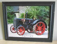 Framed 1929 CASE L Tractor Calendar Print w Glass info on reverse FREE SH