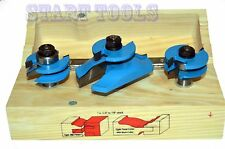 "New 3-PC Raised Panel Door Router Bit KIT Stile Rail 1/2"" Shank TUNGSTEN CARBIDE"