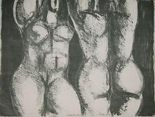 """""""Femmes nues aux bras levés 2"""" Lithographie signée Isa PIZZONI"""