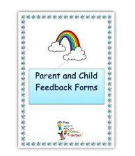 PARENT/ CHILD FEEDBACK QUESTIONNAIRES PACK NEW EYFS childminder resource