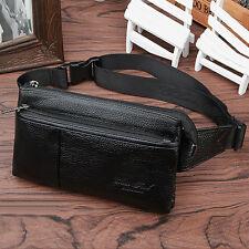 Men's Genuine Leather Cowhide Fanny Waist Belt Bag Purse Messenger Chest Bag New