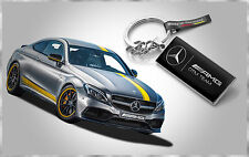 GENUINE MERCEDES BENZ AMG DTM TEAM STAINLESS STEEL KEYRING MADE IN GERMANY