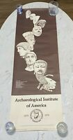 Vintage Institute of Archaeology Poster Anniversary 100 years 1979