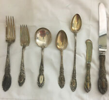 "Towle ""King Richard"" Sterling Flatware 7 Piece Place Set    1932 No Mono"