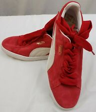 Puma Suede Classic + Mens 11 M Red Suede Lace Up Sneakers Leather Shoes