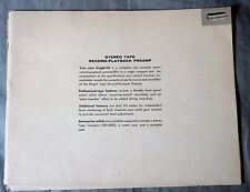 Assembly Manual knight-kit Stereo Tape Record-Playback Preamp